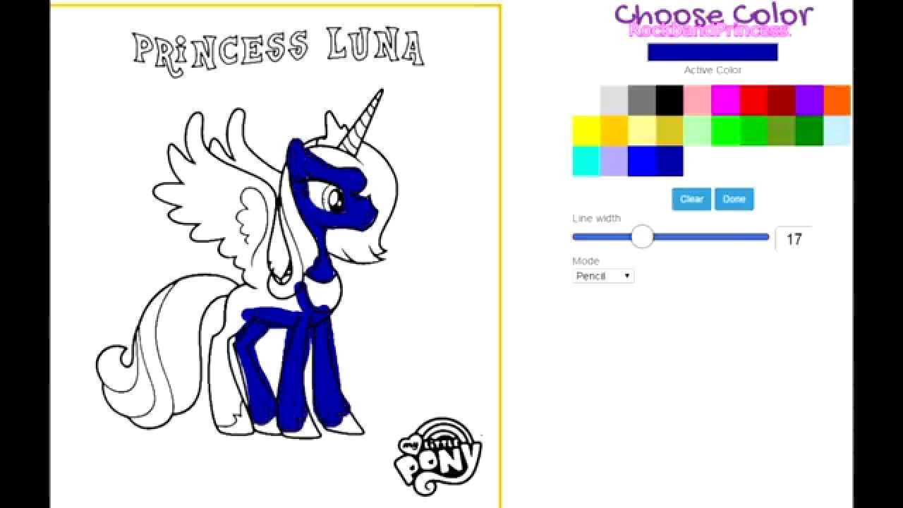 my little pony princess coloring pages my little pony luna