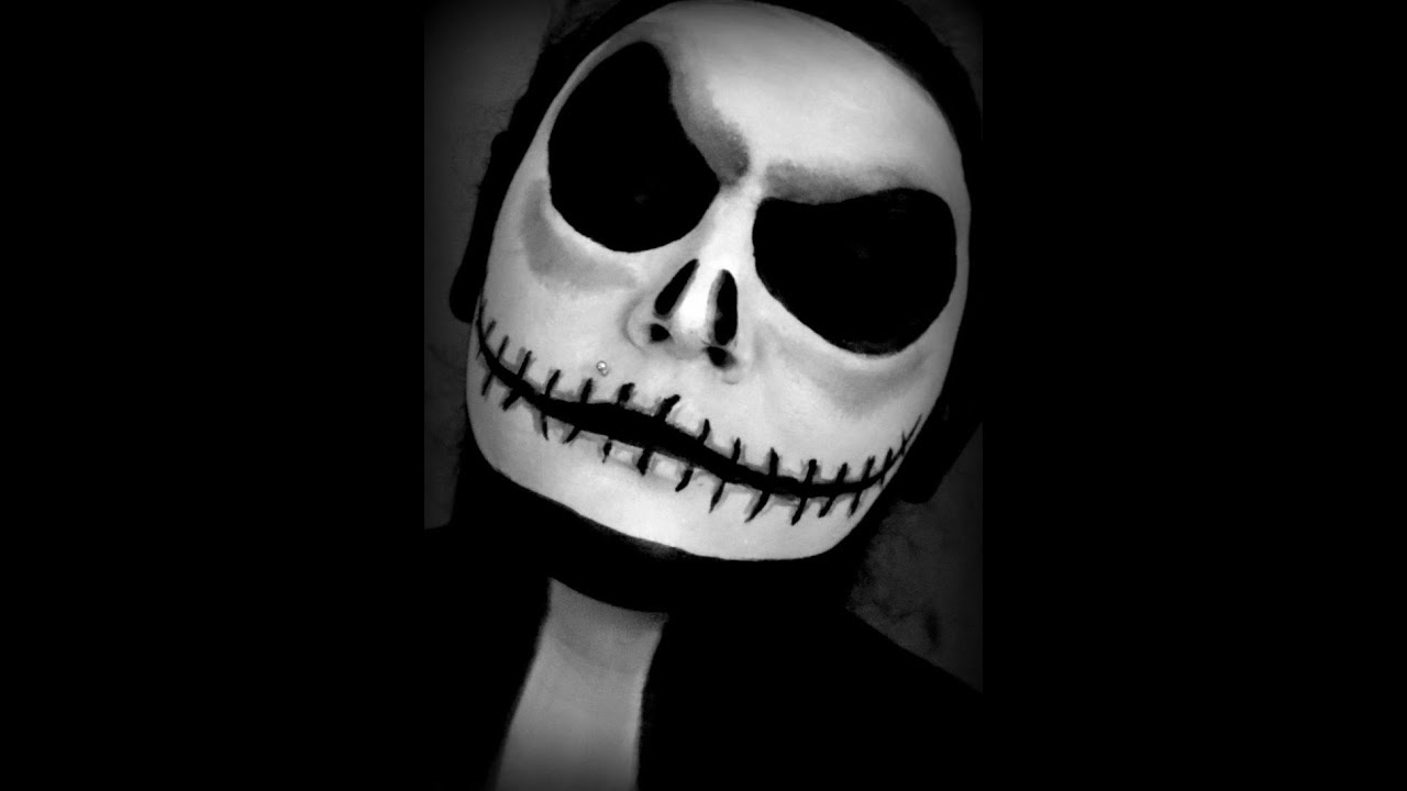 Halloween Series 2013: Jack Skellington Makeup Tutorial - YouTube