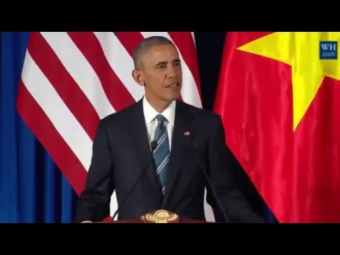 President Obama and President Quang of Vietnam Hold a Press Conference Live 23/5/2016