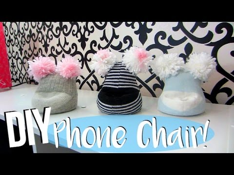 DIY Bean Bag Chair For Your Phone! No Sew!