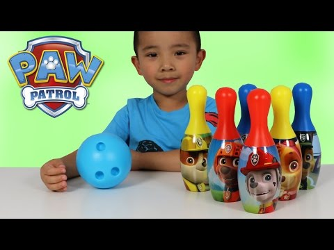 Paw Patrol Bowling Set Indoor Outdoor Fun Children Games Chase Marshal Rubble Rocky Ckn Toys