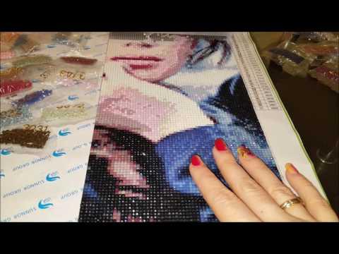 Как собирать алмазную вышивку видео