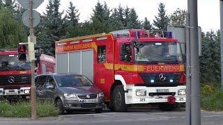 PKW blockiert Feuerwehr auf Einsatzfahrt - Feuerwehrmann genervt - Rüstzug Feuerwehr Heidelberg