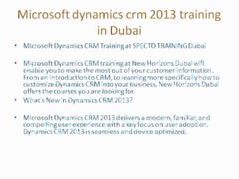 Microsft dynamics crm 2013 training in Dubai