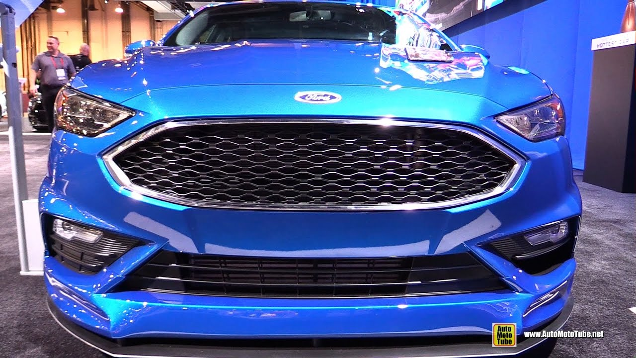 2017 Ford Fusion Sport Customized by Legacy Innovations - Exterior Walkaround - SEMA 2016 - YouTube