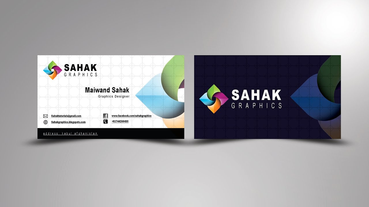 Business Card Design In Photoshop | In Hindi / Urdu - YouTube