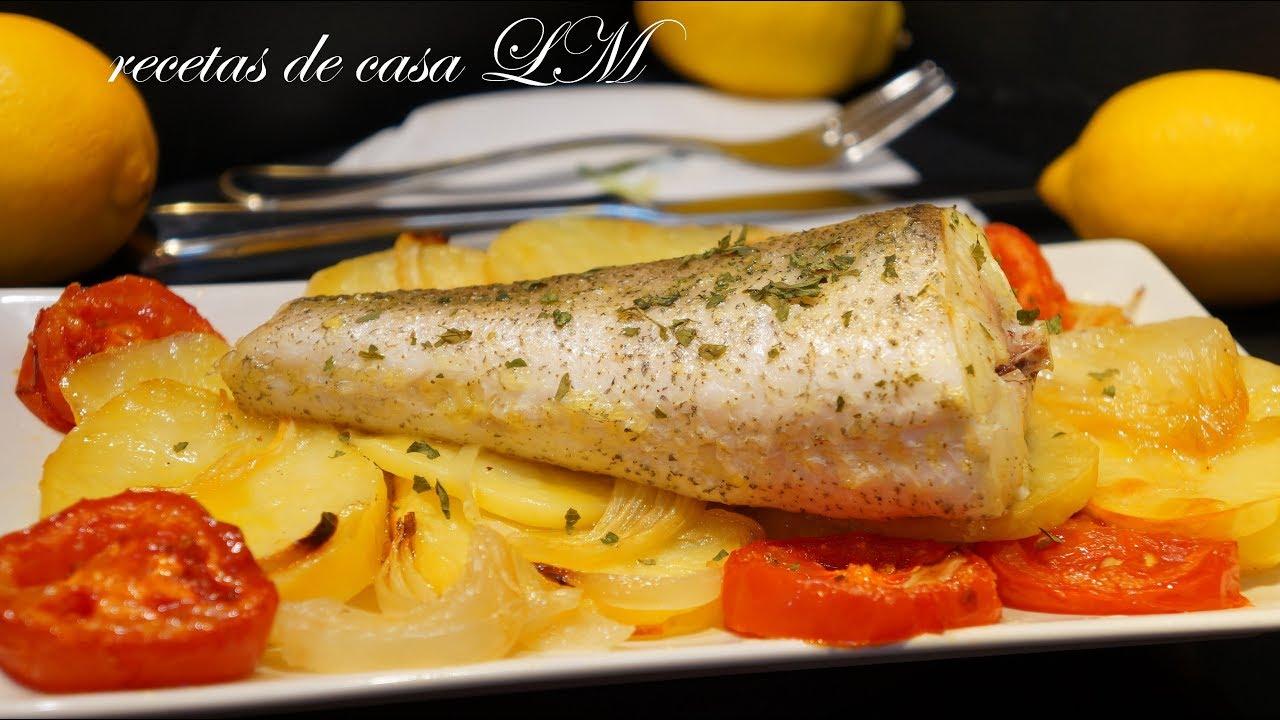 Merluza al horno o pescado al horno receta f cil y r pida for Merluza al horno facil