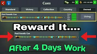 8 Ball Pool Free Free Again || Pool Fanatic Cue || For New Reward Link