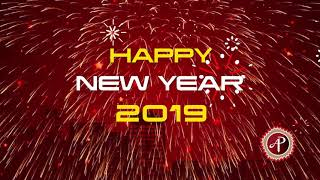 Happy New Year 2019 Happy New Year Animation Card 2019 New Years Greeting Card ArtPencil