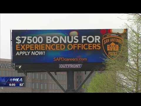San Antonio PD recruting Dallas PD officers