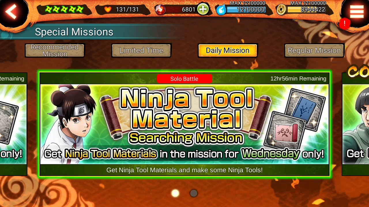 NXB NV : Ninja Tool Material Searching Mission Stage 2 (Wednesday)  completed