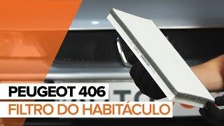 Como substituir a Filtro do habitáculo no PEUGEOT 406 TUTORIAL | AUTODOC