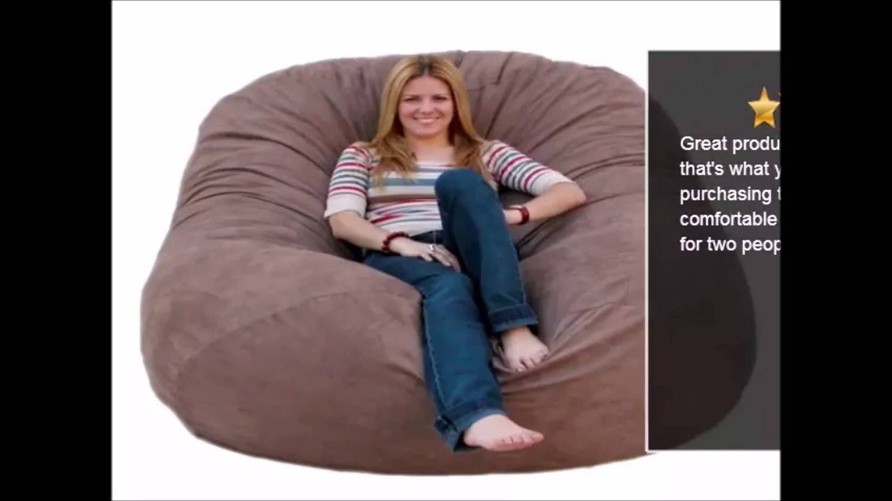 6 Foot Bean Bag Chair Antique White Round Table And Chairs Cozy Sack Feet Large Chocolate Review Youtube