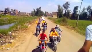 مسيره دراجات بخاريه على طريق المعصره احدى قرى مركز بلقاس 9 مايو