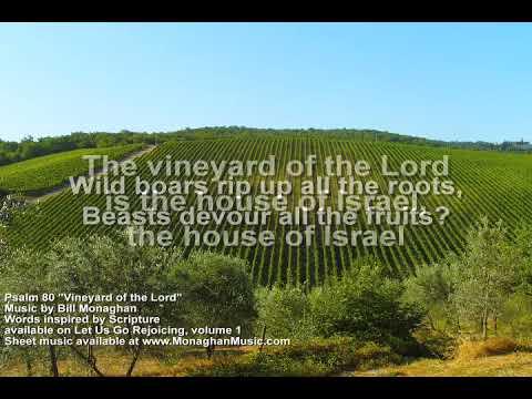 Vineyard of the Lord Psalm 80  Bill Monaghan LYRICS