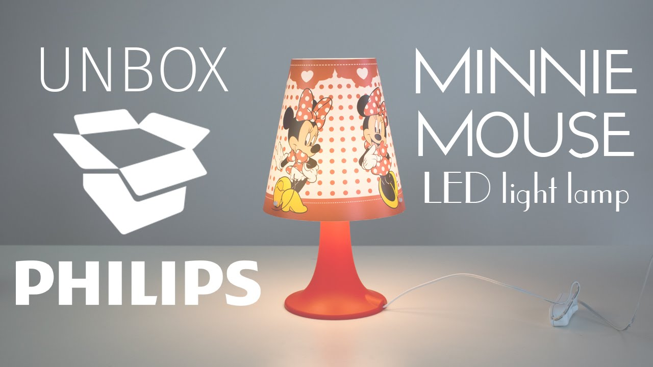 Unbox philips minnie mouse disney led light usb youtube unbox philips minnie mouse disney led light usb geotapseo Gallery