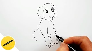 Как Нарисовать Собаку пошагово | Рисуем собаку для начинающих