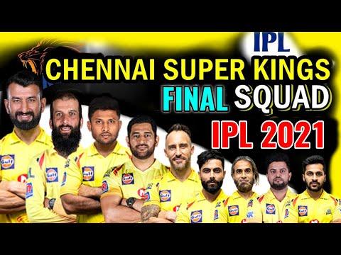 Vivo IPL 2021 Chennai Super kings  Full Squad | CSK Final Squad IPL 2021 | CSK Players list IPL 2021