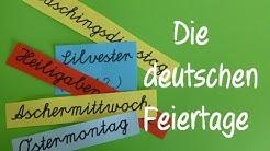 Learn German: Feier- und Gedenktage