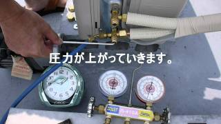 エアコン取り付け後の真空引きとゲージ圧 thumbnail