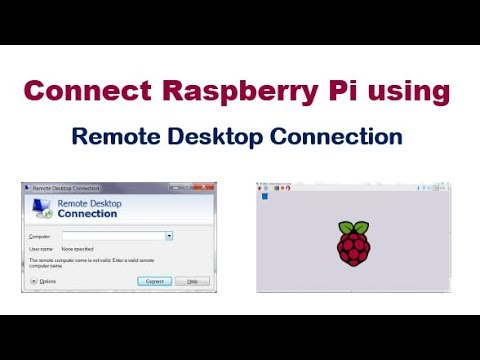 Connect Raspberry Pi Using Remote Desktop Connection