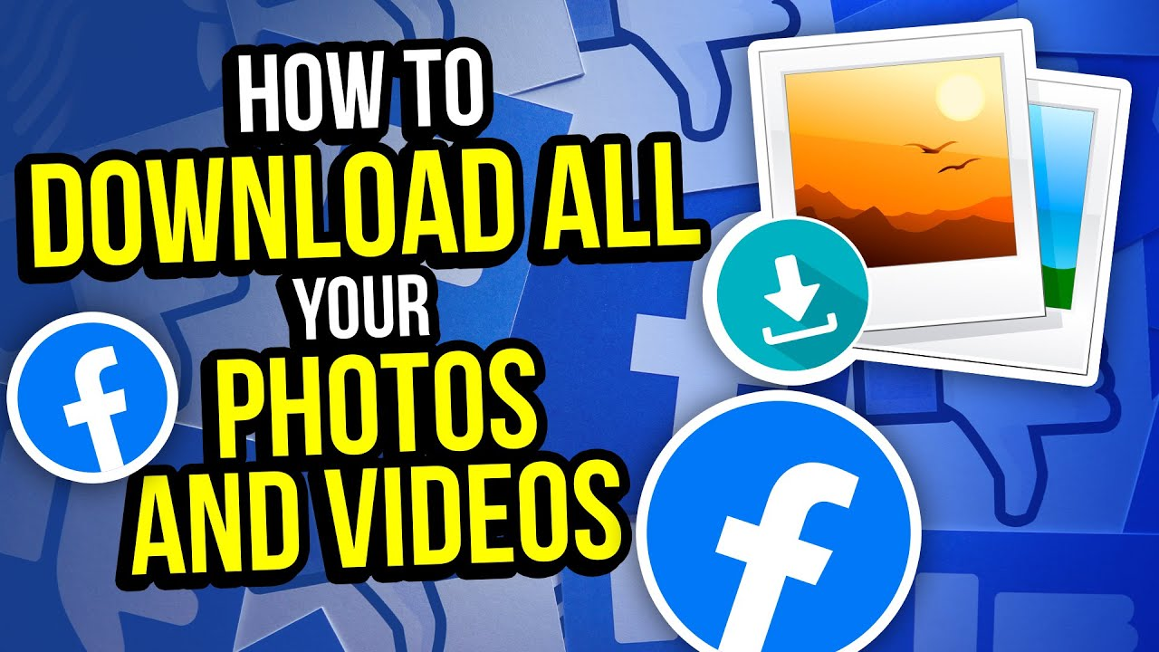 Facebook has YOUR photos and videos - get them back ASAP!