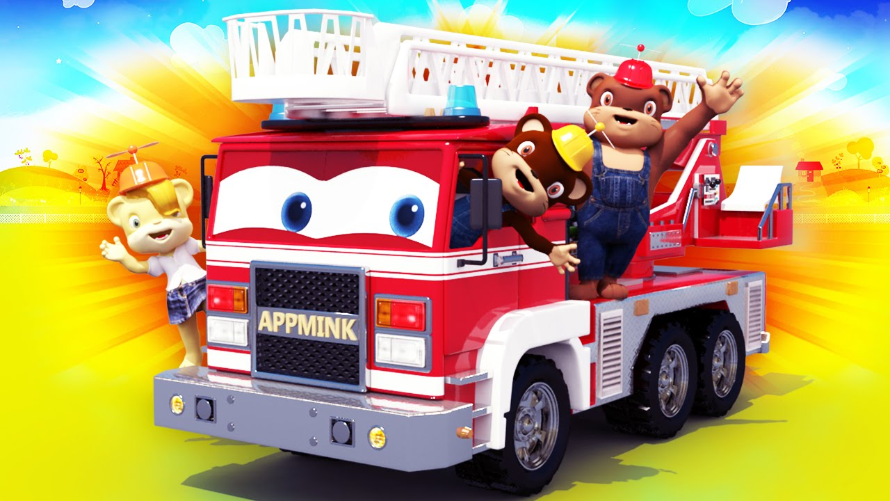appmink build a fire truck fire trucks cartoons for kids youtube rh youtube com cartoon fire truck fire truck cartoons for toddlers
