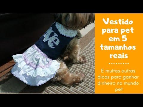 VESTIDO PARA PET COM 5 MOLDES EM TAMANHO NATURAL