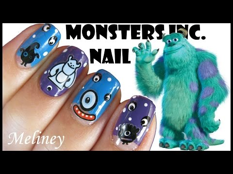 halloween-nails-|-monsters-inc-disney-cartoon-nail-art-stickers-design-|-meliney-tutorial