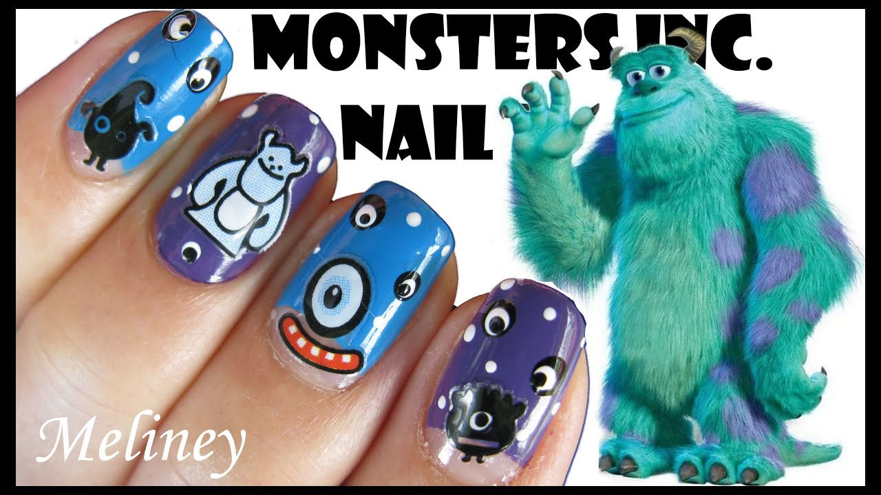 HALLOWEEN NAILS | MONSTERS INC DISNEY CARTOON NAIL ART STICKERS ...