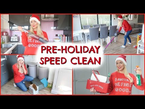 SPEED CLEAN MY ENTIRE HOUSE WITH ME  |  PRE HOLIDAY CLEANING  |  SPEED CLEAN EMILY NORRIS
