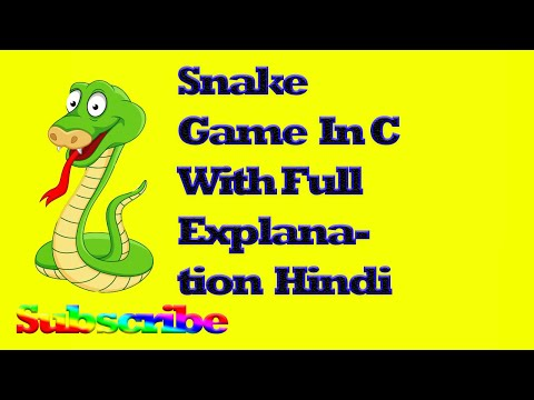 Snake Game In C Programming Full Explanation In Hindi || Mini Project In C Programming Language