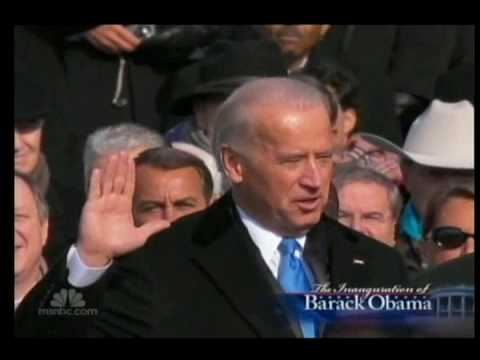 Joe Biden takes the oath of Office of Vice President