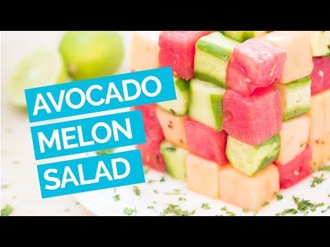 Avocado Watermelon Cucumber Salad Recipe