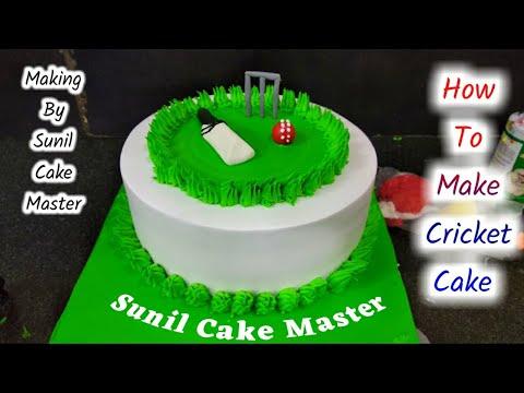 Cricket Ground Cake | Fondant Cricket Cake | Sunil Cake Master | Yummy Cake | Cricket Cake Recipe