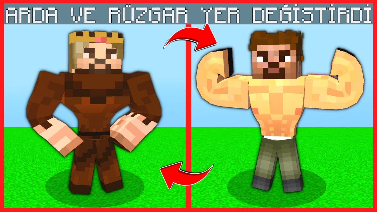 ARDA VE RÜZGAR YER DEĞİŞTİRDİ! 😱 - Minecraft