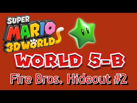 Super Mario 3D World - World 5-B: Fire Bros. Hideout #2 (all collectables)