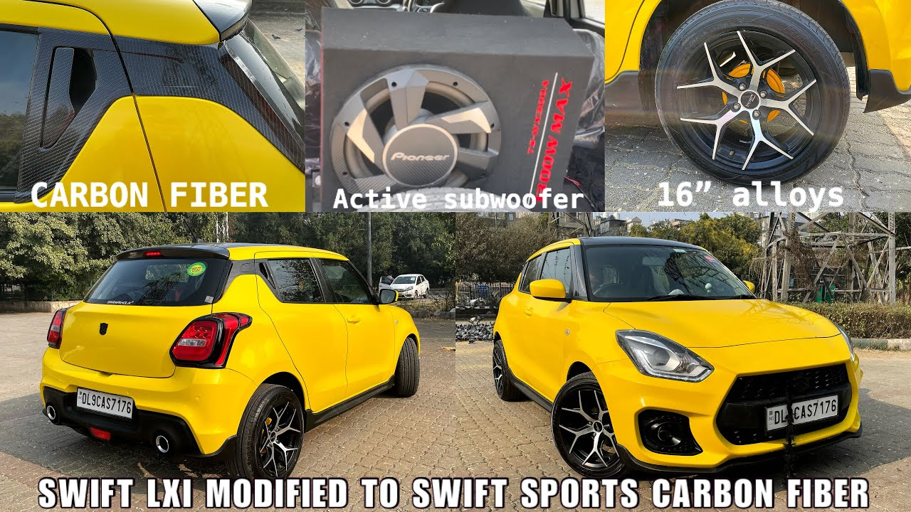 NEW swift lxi modified to swift sports carbon fiber |Swift sports kit | New swift full Body wrapping