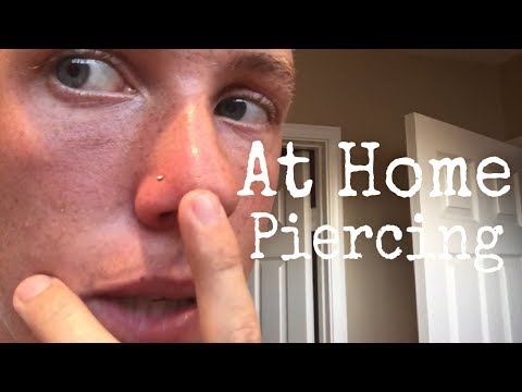 Piercing My Own Nose