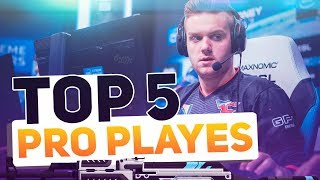 Top-5 PRO PLAYS | CS:GO