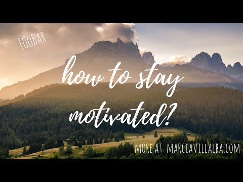 How to stay motivated as a software developer - FooBar