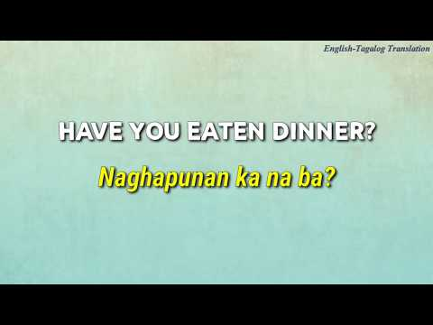 Everyday Useful Questions And Sentences (English-Tagalog Translation) Part 39