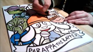 SpeedColour with Promarkers - Parappa the Rapper