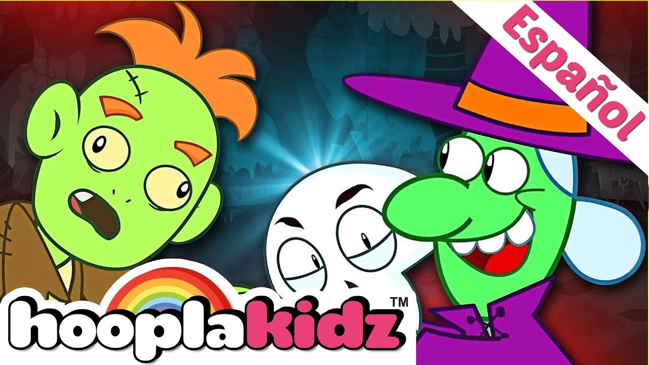 Cinco Esqueletos Salieron Una Noche Canción De Miedo Para Niños Hooplakidz En Español Youtube