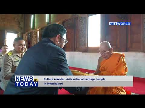 Culture minister visits national heritage temple in Phetchaburi