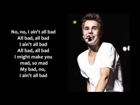 Justin Bieber - All Bad [Lyrics on Screen]