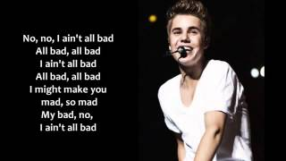 Justin Bieber - All Bad [Lyrics on Screen]