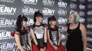 Girls on Games got the chance to speak with BABYMETAL after their p...