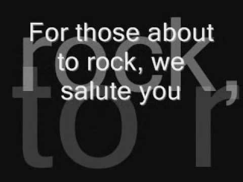 AC/DC - We salute you (lyrics)