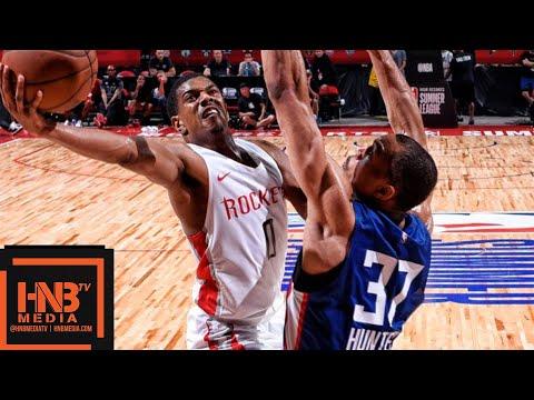 Houston Rockets vs LA Clippers Full Game Highlights / July 9 / 2018 NBA Summer League